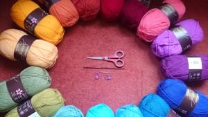 De Stylecraft Special DK kleuren voor mijn Spice of Life CAL deken :)